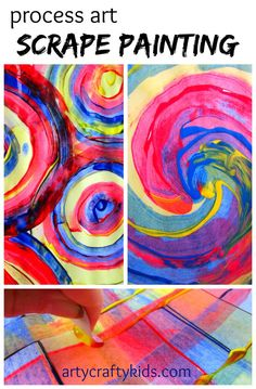 Arty Crafty Kids: Process art for kids! great for colour mixing and playing with shapes.