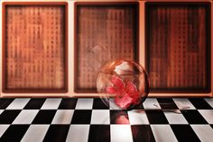 """Wandbild Blume Glaskugel """"Glassorb""""   online kaufen   sinARTty®"""