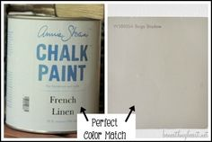 """Color Match ASCP French Linen = Lowes Waverly Home Classics """"Beige Shadow"""""""