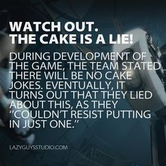Portal: The cake is a lie!