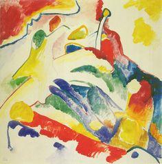 Kandinsky - Study for, Composition II (Two Riders and a Reclining Figure), Entwurf zu, Komposition II, [Zwei Reiter und liegende Gestalt], ca. 1910
