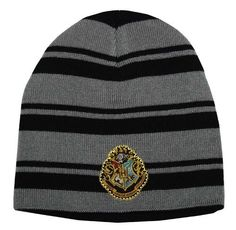 Harry Potter  Hogwarts Crest Striped Beanie Hat Harry Potter.  16.99 a8686e6c005b