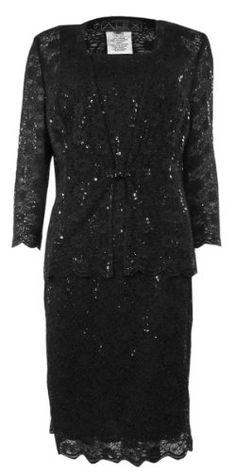 Alex Evenings #Petite #Dress & Jacket Lace & Sequins #Black