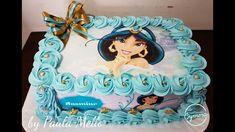 jasmine - Pesquisa Google Jasmine Birthday Cake, Aladdin Birthday Party, Aladdin Party, Birthday Sheet Cakes, Little Girl Birthday, Birthday Cake Girls, Birthday Fun, 1st Birthday Parties, Marie Youtube