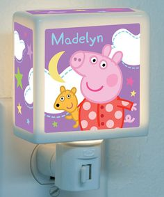 Loving this Peppa Pig Personalized Starry Night-Light on #zulily! #zulilyfinds