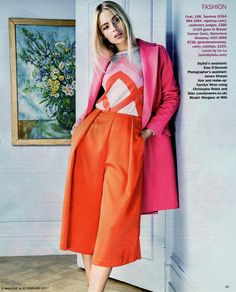"""La Vie en Rose"" @smagazineuk Featuring my Munro intarsia cashmere jumper. Embracing seductive shades of red, pink and orange this Spring.  Thank you to Stylist @paulaoconnorstylist Assistant stylist #sianodonnell  photographer @euandanks  MUA @cazwren  Model Margaux @milkmodelmanagement  Shop the Munro intarsia jumper in pink via the bio link with free international delivery. Plus £100 of every jumper sold will be donated to @breast_cancer_care"