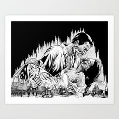 Gone With The Mind Art Print by Steve Wierth | Society6