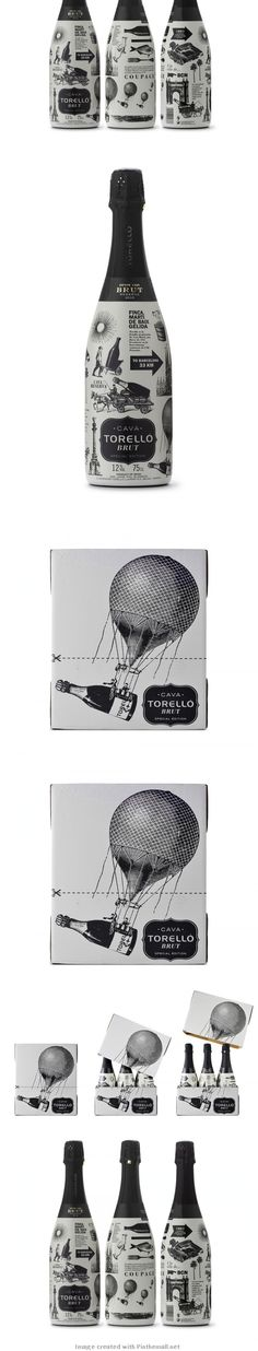 Torell Special Edition / design by Enric Aguilera Asociados. via the dieline #packaging #champagne