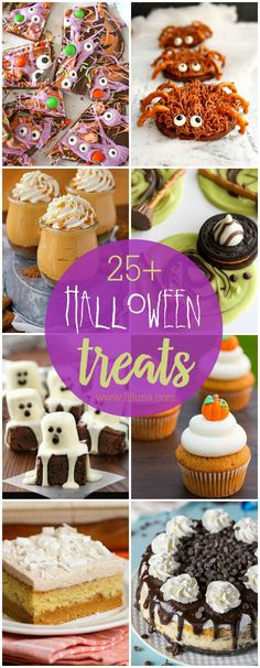 A DELICIOUS and FESTIVE collection of Halloween treats from cupcakes to cookies that will be perfect for your October festivities!! Check out the recipes on { lilluna.com }