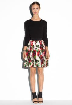 Milly Pleat Skirt | #Chic Only #Glamour Always