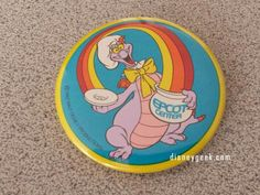 Found this Figment button while cleaning. Think its from my 1st trip in 1983 #Epcot