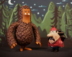 SpankyStokes.com | Vinyl Toys, Art, Culture, & Everything Inbetween: Invisible Creature's Salvatore the Sasquatch & George the Lumberjack… AVAILABLE AGAIN!