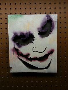 the joker decor | The Joker (Dark Knight, Heath Ledger) Wood Cutout Joker Sketch, Joker Drawings, Harley Quinn Drawing, Joker And Harley Quinn, Suiside Squad, Joker Painting, Batman Bedroom, Joker Dark Knight, Joker Poster