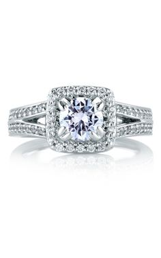 A. Jaffe Art Deco - 18k White Gold 0.45ctw Diamond Engagement Ring, MES264-145 product image