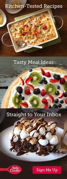 Sign up for Betty Crocker's email and get recipes and coupons sent straight to your inbox.