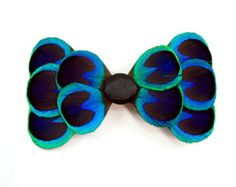 peacock feather bow tie - Google Search