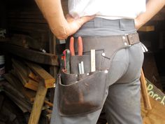 Leather Tool Belt Perfect for shop use and by WheelerMunroe, $165.00