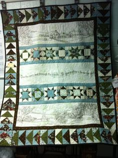 Hand embroidered machine quilted by donnabyington on Etsy, $425.00