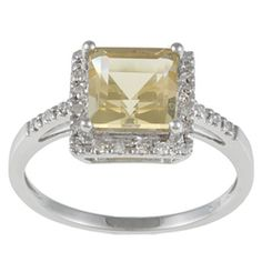 what I want for my bday...@Overstock - Citrine and diamond ring10-karat white gold $183.99