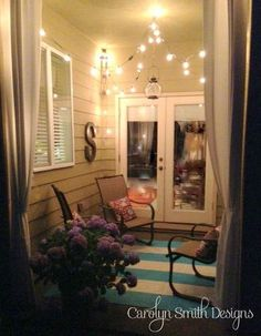 Beachside Patio via Carolyn Smith Designs