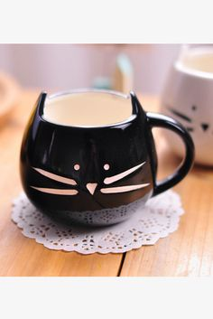 Cute Black Kitten Mug. Free 3-7 days expedited shipping to U.S. Free first class word wide shipping. Customer service: help@moooh.net