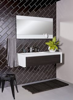 CIBO Uber 1200 Wall Hung Vanity - Front cabinetry installed with options in Navurban™ The Oaks, Blackheath, Yarra Walnut and Burwood. Bathroom Renos, Bathroom Furniture, Hamptons Decor, Wall Hung Vanity, Decorative Panels, Vanity Units, Bedroom Themes, Beautiful Bathrooms, New Age