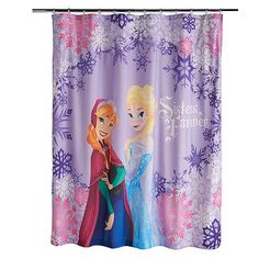 Disney Frozen Lovely Shower Curtains: Bring the frozen fever to your child's bathroom. This shower curtain is perfect for any little girl who loves frozen. Its design is sure to make it stand out. Frozen Elsa And Anna, Disney Frozen Elsa, Elsa Anna, Girl Bathrooms, Bathroom Kids, Bathroom Things, Bathroom Stuff, Bath Girls, Kids Bath