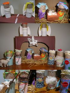 nativity scene- each team member gets a different nativity character and has to design their bog roll? Nativity Crafts, Christmas Nativity, Christmas Crafts For Kids, Book Crafts, Christmas Projects, Kids Christmas, Christmas Decorations, Holiday Club, Pinterest Crafts
