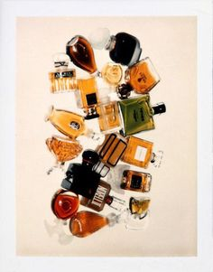 perfume bottles polaroid photograph, andy warhol, 1979
