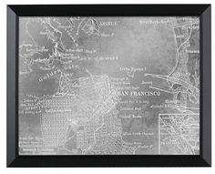 San Francisco Map Mirror (1219)