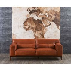 Would die for both the lounge & map print Leather Lounge, Leather Sofa, Sofas, Love Seat, Couch, Lounges, Living Room, Map, Furniture