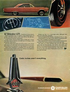 """1967 Plymouth Belvedere GTX Hardtop """"Most assuredly it has an engine.""""  No kidding?"""