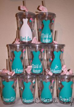 Set of Bridal Party Gifts Wedding Party Gifts by LaBellaVinyl, $46.00