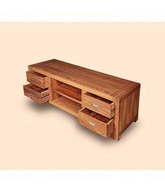 Rustic Wood TV Cabinet  at mynesthome.com