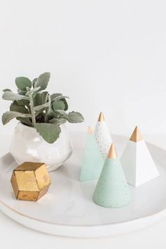 Mini sapins de Noël DIY