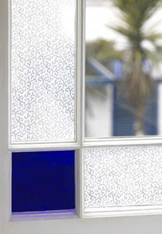 clear filigree window film