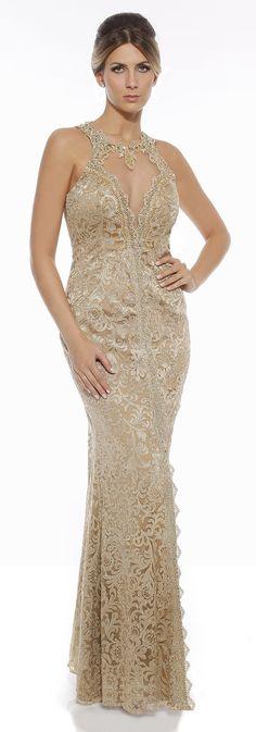 Vestido de festa dourado madrinha ou formanda Moda Fashion, Fashion Models, Modelos Fashion, Glamour, All Things, Formal Dresses, Party Dresses, Ideias Fashion, Prom