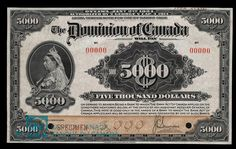 Canada, Dominion of Canada, dollars : January 1924 Amazon Prime App, Ontario City, Money Paper, Canada Eh, January 2, Large Paper Flowers, Canadian History, Old Coins, Calligraphy Letters