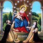 """Santa Teresina diceva: """"Col Rosario si può ottenere tutto. Esso è una lunga catenache lega il cielo alla terra; una delle estremità è nelle nostre manie l'altra in quelle della Santa Vergine."""". E la Mamma celeste sa, quanto abbiamo bisogno del suo intervento nella nostra vita, prima di tutto per distingue e respingere gli attacchi …"""