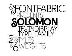 Solomon by Fontfabric , via Behance