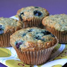 Life's Too Short to Skip Dessert: Healthy Blueberry Bran Muffins {and a Giveaway!}