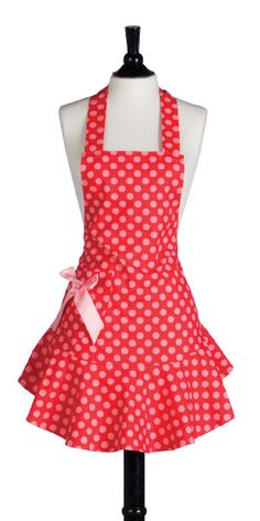 Really cute style and color for an apron :)