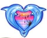 Link to graphics and drawing sites that have Dolphins in the shape of a heart. dolphin heart photo: dolphin heart dolphinsheart.jpg