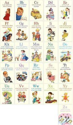 vintage ABC cards