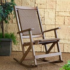 Find it at the Foundary - Willow Bay Folding Resin Wicker Rocking Chair - Walnut Wicker Rocking Chair, Outdoor Rocking Chairs, Garden Chairs, Take A Seat, Wicker Furniture, Outdoor Living, Relax, Patio, Walnut Finish