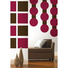 Create a warm and inviting environment in your home with a rich palate of chocolate browns and berry reds. Alternate Dots, Blox and Stripes, for a unique pattern that's all your own.