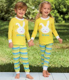 From CWDkids: Bunny Dot Gown & Bunny Tail Pajamas | Sleep Tight ...