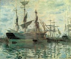 the port A(n) Claude Monet paintings