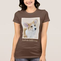 Pembroke Welsh Corgi T-Shirt  $26.40  by alpendesigns  - cyo diy customize personalize unique