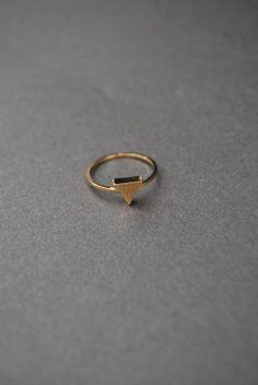 Triangle Midi Ring.